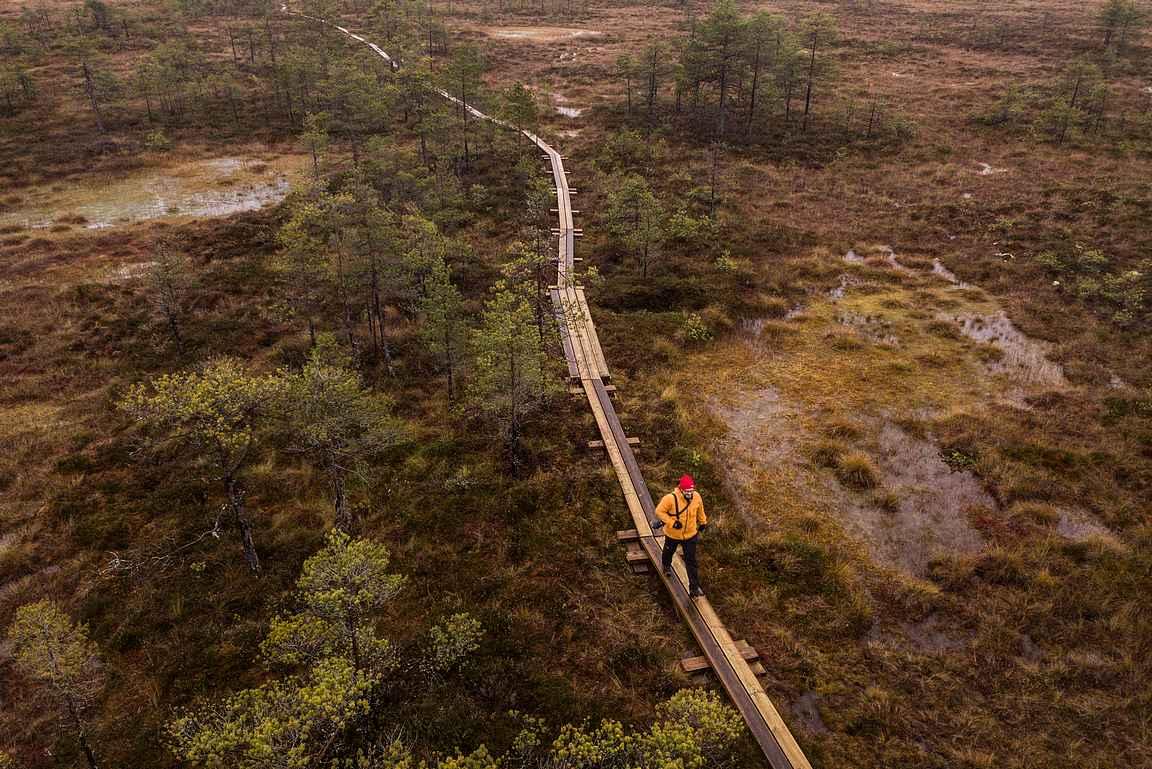 Syksyllä 2019 rengasreitti uusilla pitkospuilla tehtiin kokonaan kansallispuiston alueelle.