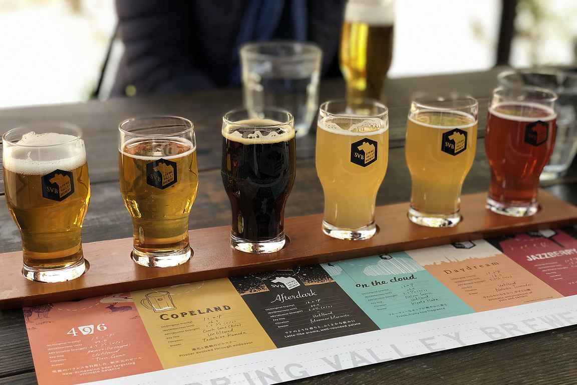 Spring Valley Breweryn maistelulautasen sisältö oli helppo tutkia myös englanniksi.