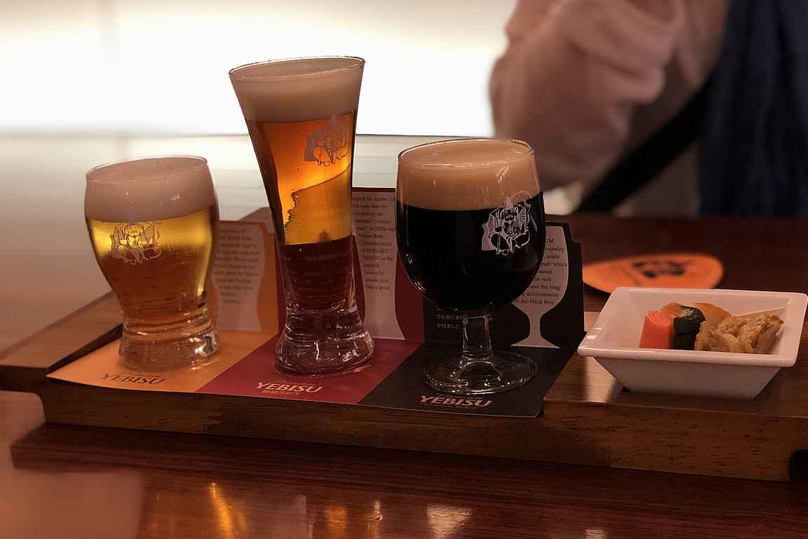 Yebisun tyylikäs olutlautanen.