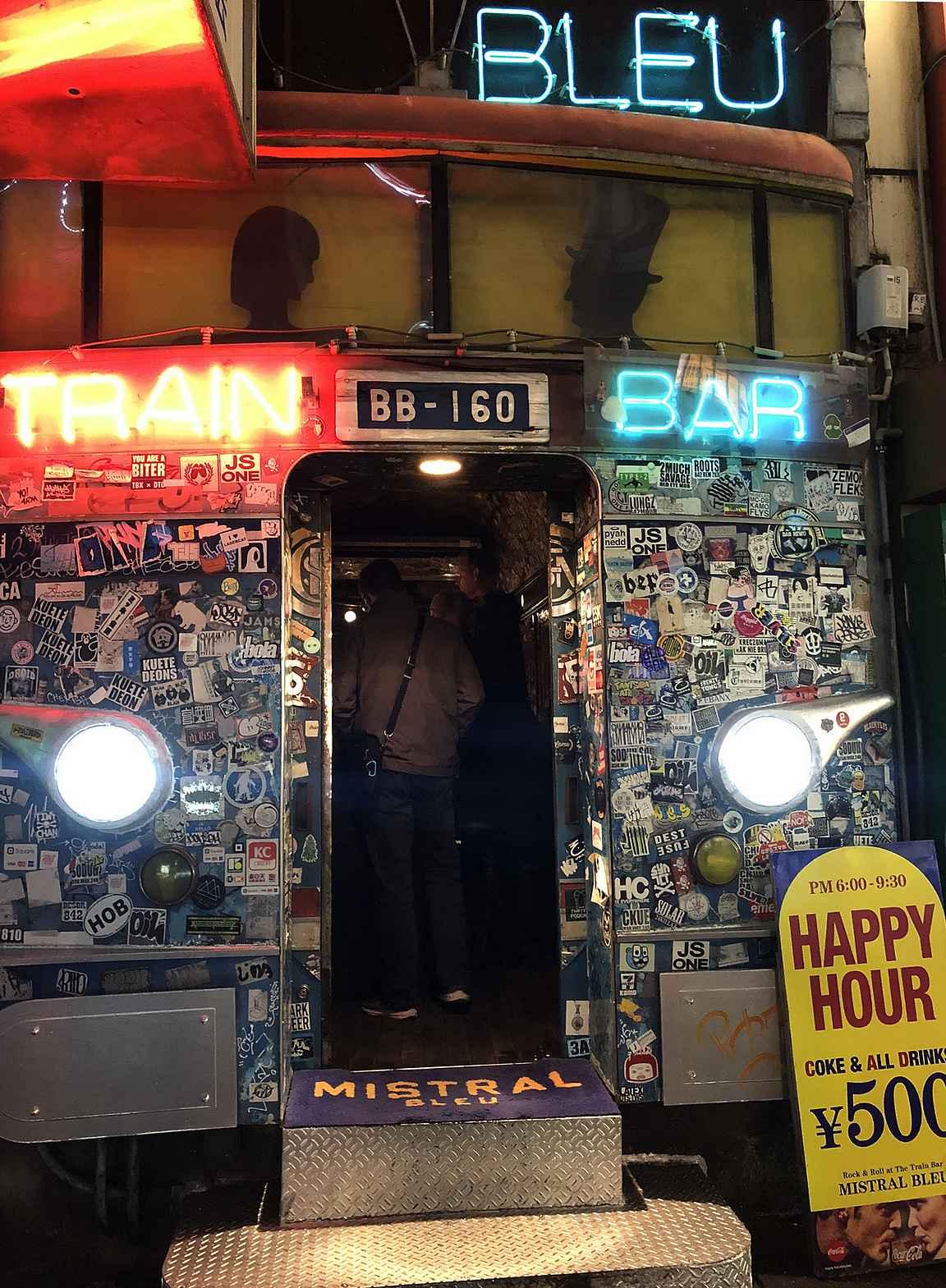 Mistral Bleu Train Bar hyvä paikka aloitella iltaa Roppongissa.
