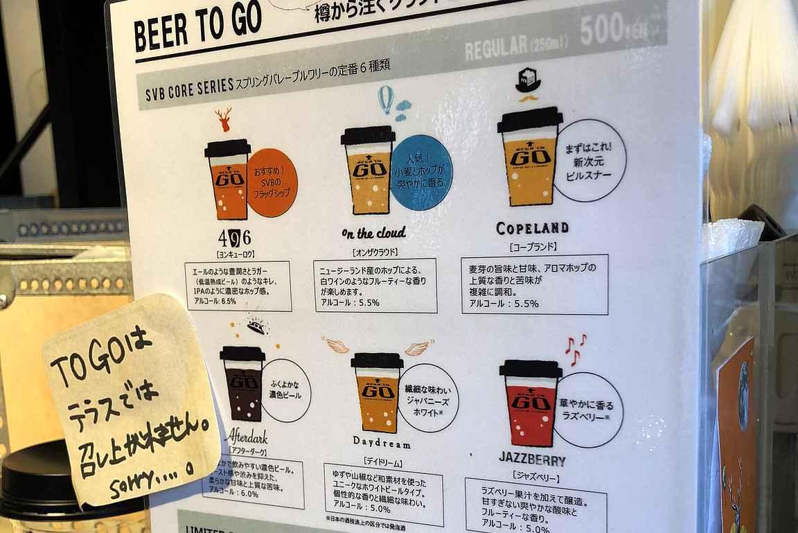 Beer to Go -olutmukit mukaan matkaan.