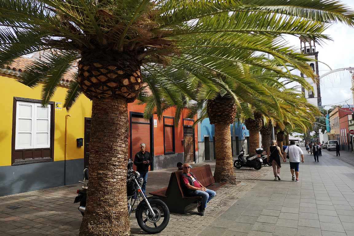 Calle Antonio Dominguez Alfonso eli Calle La Noria on Santa Cruzin vanhankaupungin värikäs ravintolakatu.