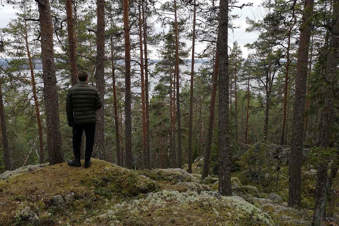 Tarjolla on komeita järvi- ja metsämaisemia osin jylhissäkin kohteissa.