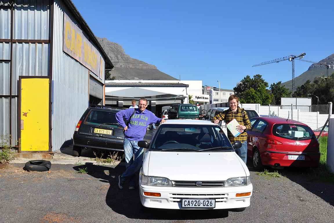 Toyota alle ja kiertelemään Kapkaupunkia.