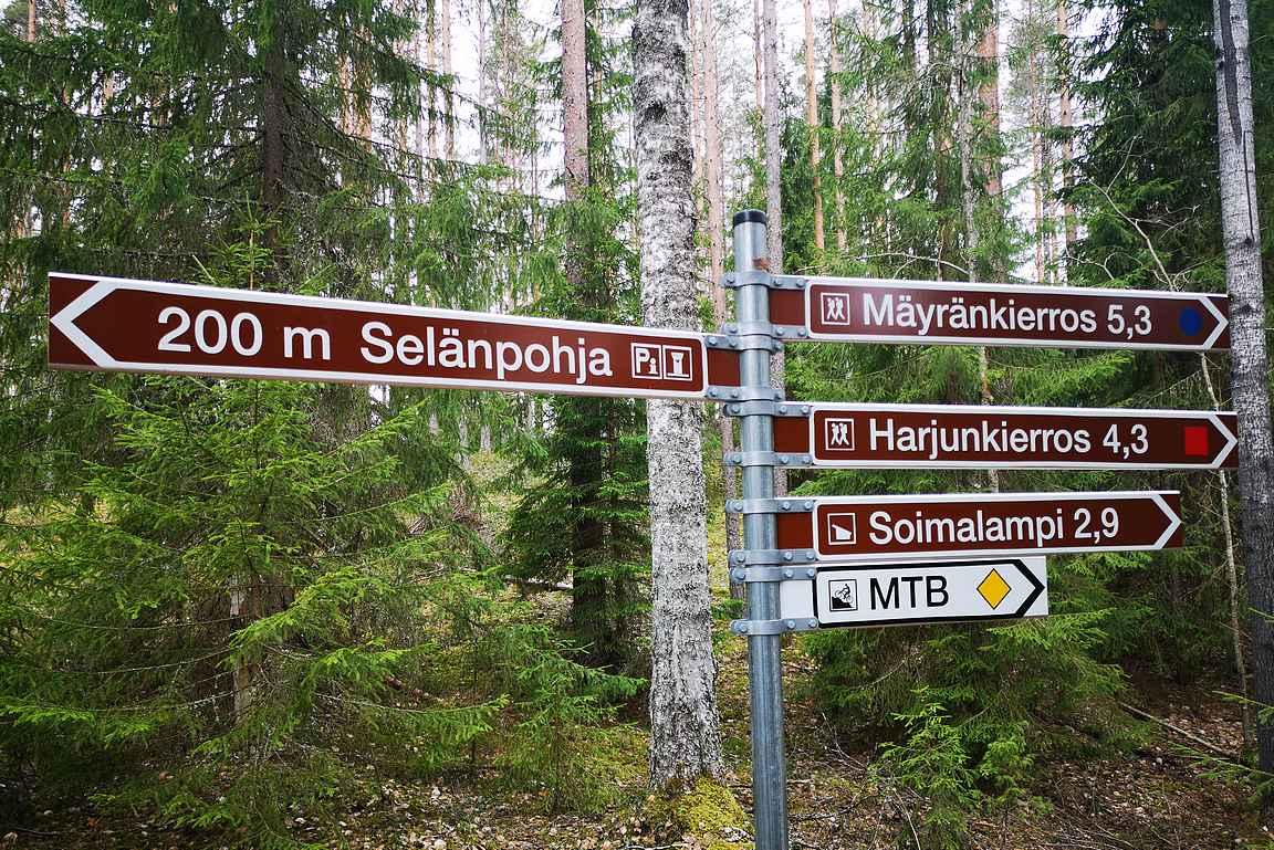 Leivonmäen kansallispuiston reitit ovat erinomaisesti merkitty eikä eksymisen varaa ole.