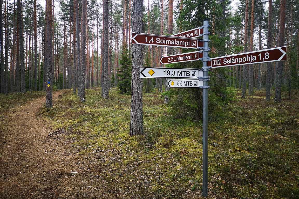 Maastopyöräilyyn on 22 kilometrin lisäksi tarjolla lyhyempiäkin vaihtoehtoja.