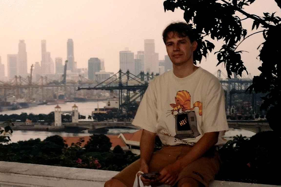 Singaporessa Sentosan saarella 1998.