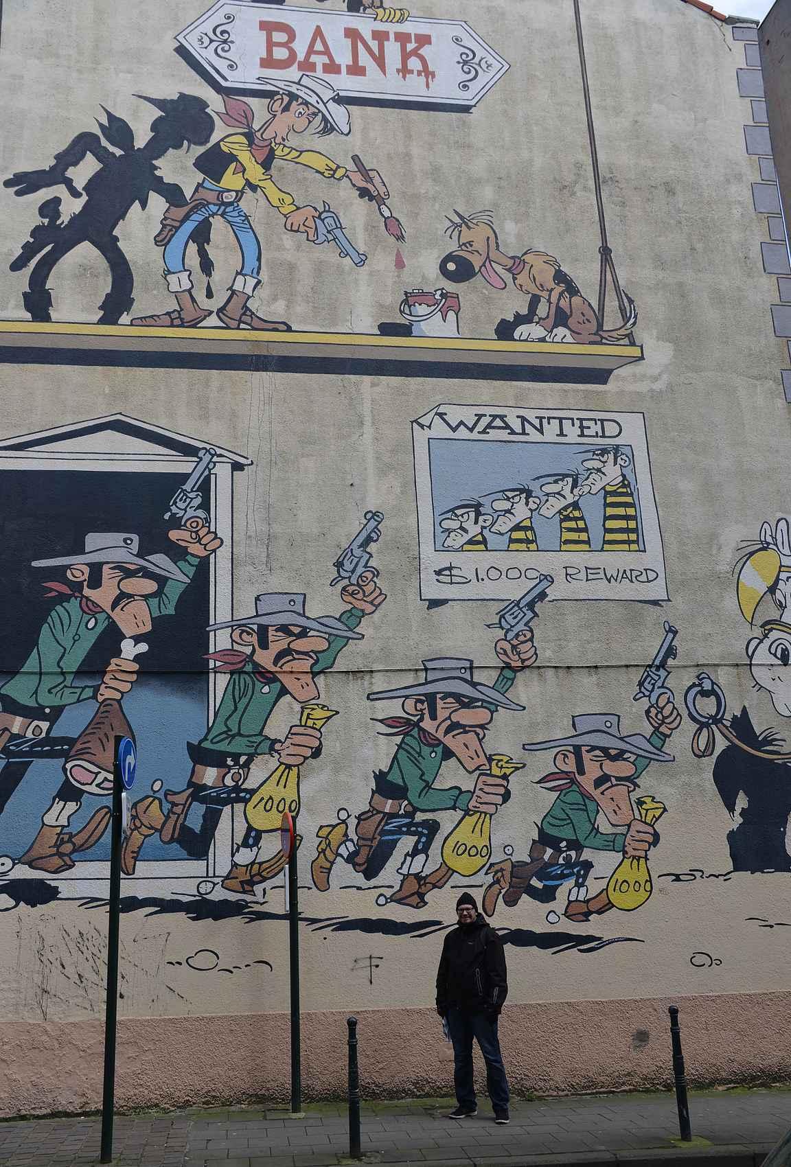 Brysselissä sarjakuvakierroksella vuonna 2015.