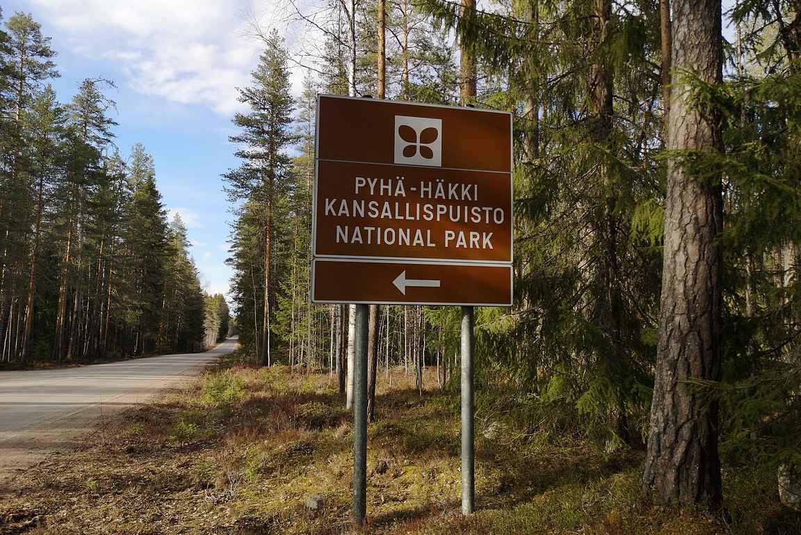 Pyhä-Häkin kansallispuisto sijaitsee Saarijärven ja Viitasaaren välimaastossa.