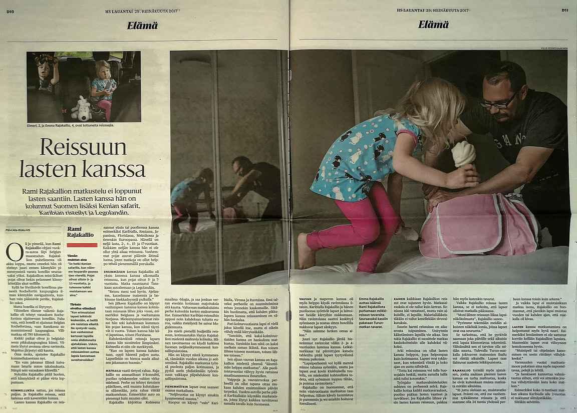 Helsingin Sanomien jutusta oli yksi lausahdus napattu verkkoversion otsikoksi ja se toimi.