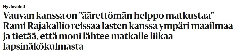 Helsingin Sanomien verkkorversion otsikko.