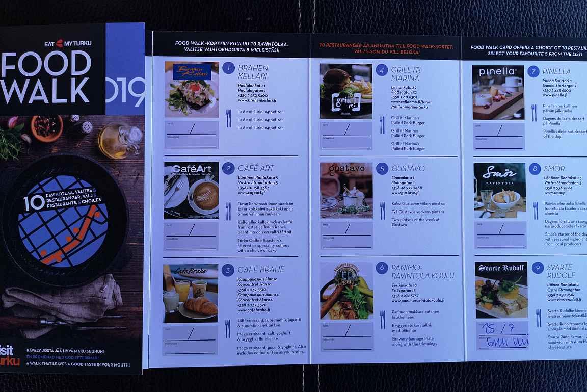 Turku Food Walk -kortti on Suomen paras ravintolapassi.