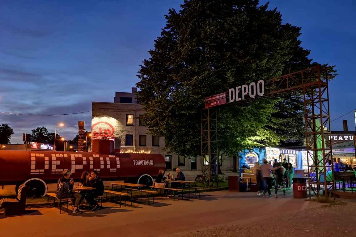 Depoo & Telliskivi on Tallinnan iltaelämän keskuksia.