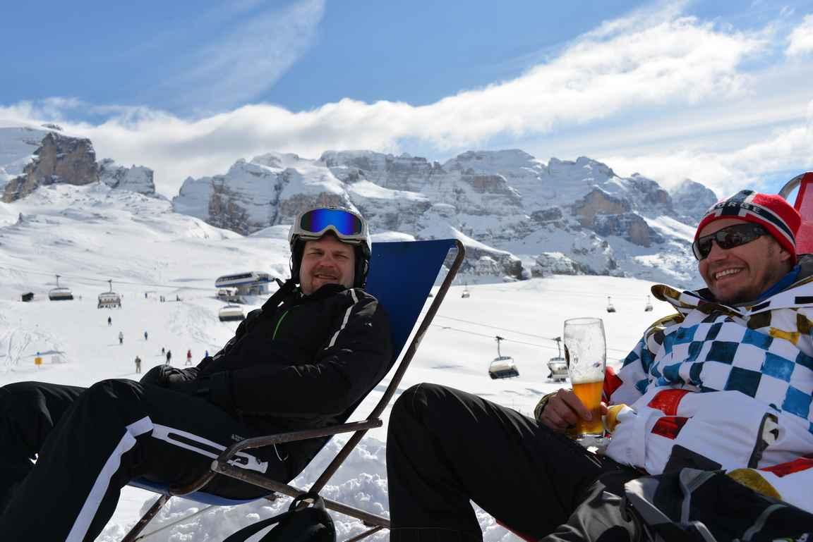Alpeilla itselle palautusjuomana rinteessä toimii paremmin vehnäolut kuin viini.