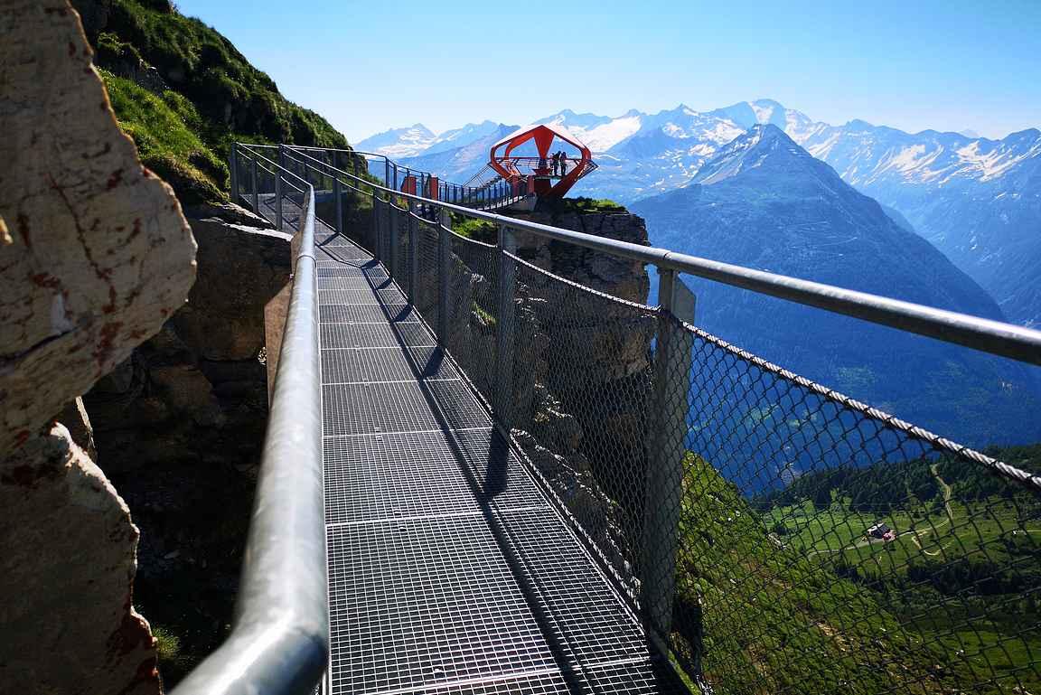 Felsenweg Rock Trailin voi kiertää myös helposti, jos haluaa palata takaisin hissiasemalle.