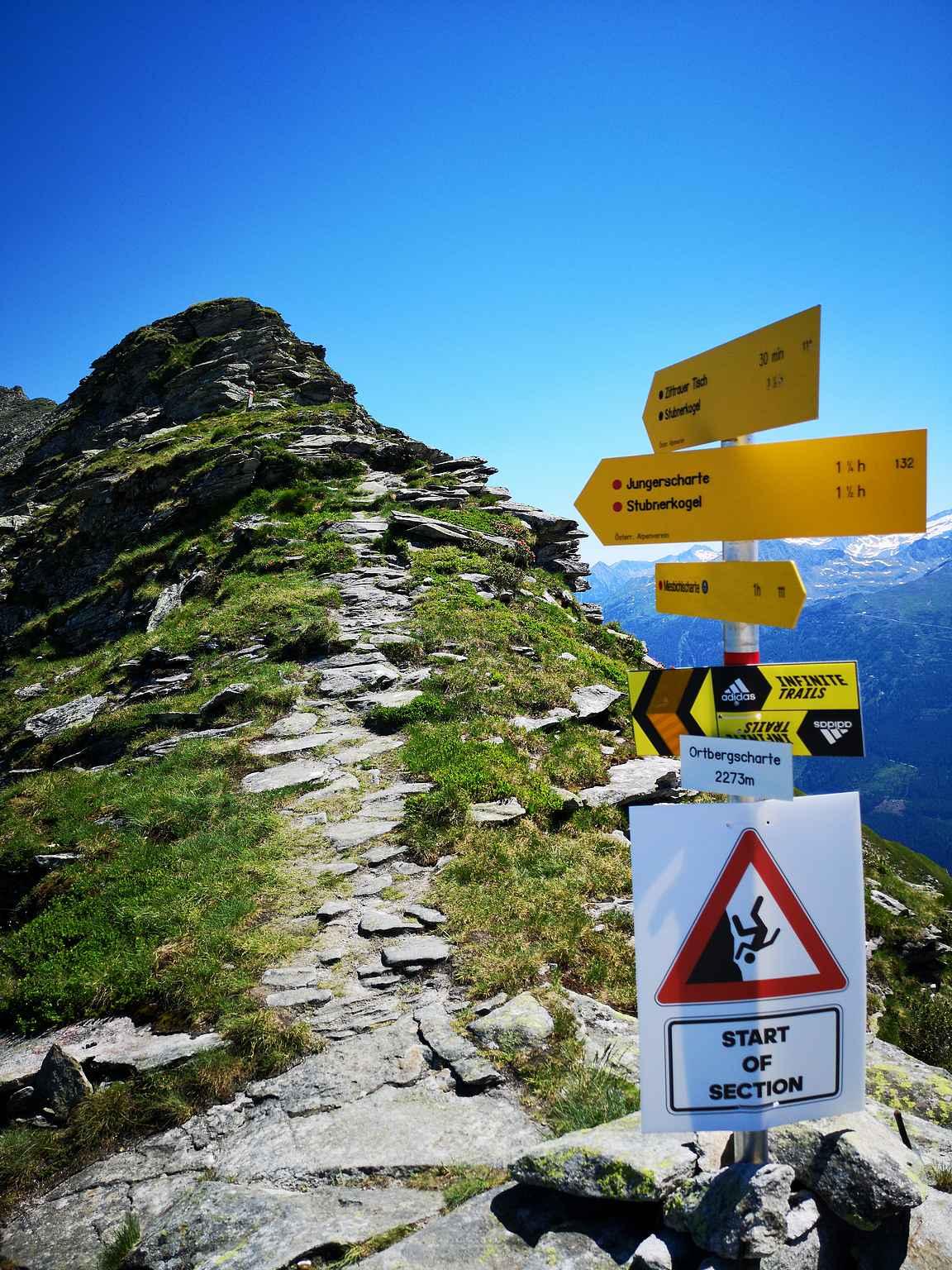 Ortbergscharte 2273 m