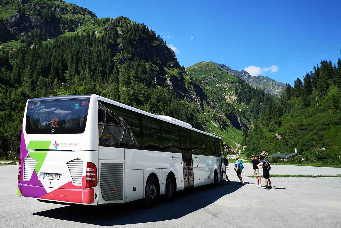 Paluu Bad Gasteiniin sujui näppärästi paikallisbussilla.