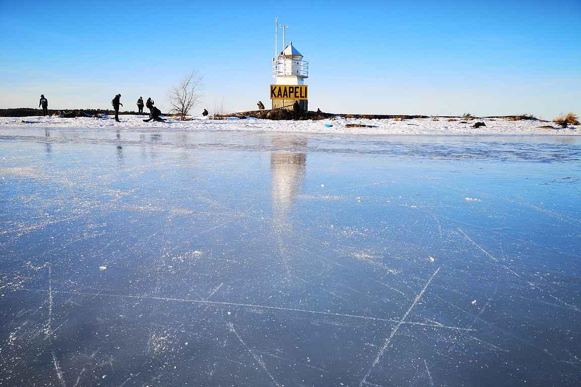 Parhaimmillaan Siilinkari on silloin, kun on Näsijärven jää peilikirkas.