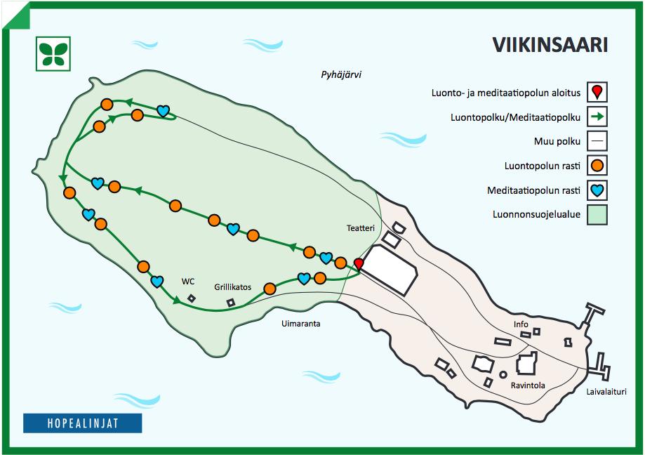 Viikinsaaren luontopolku copyright Hopealinjat