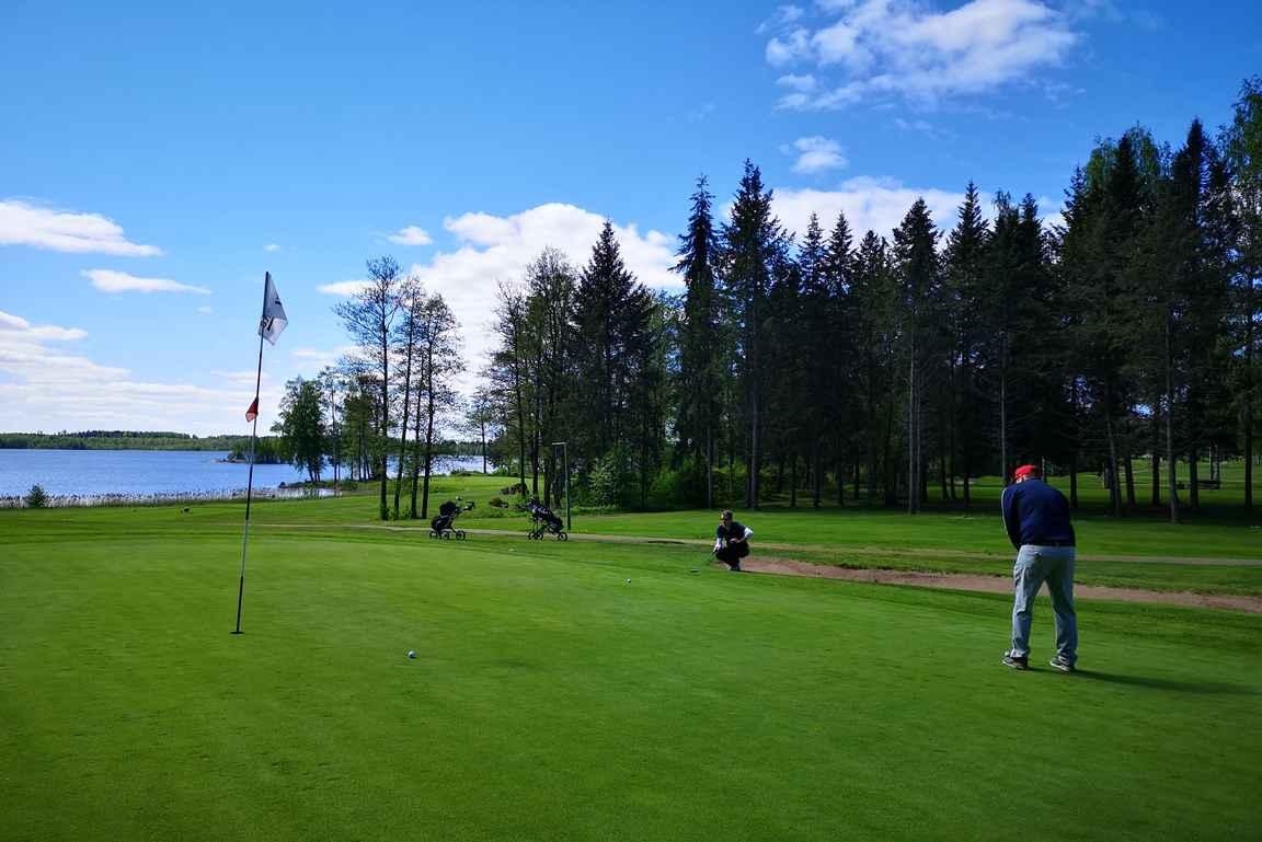 Imatran Golfin viheriöt olivat erinomaisessa kunnossa.