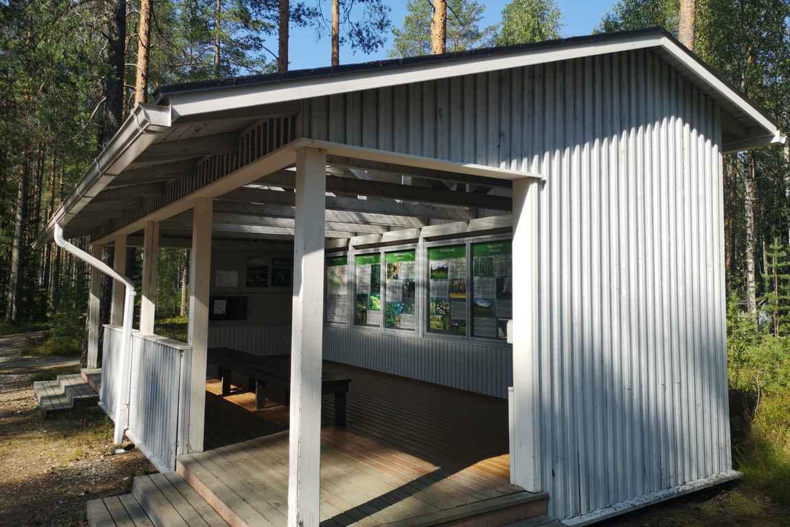 Palolammen opastaulut Hiidenportin kansallispuistoon.