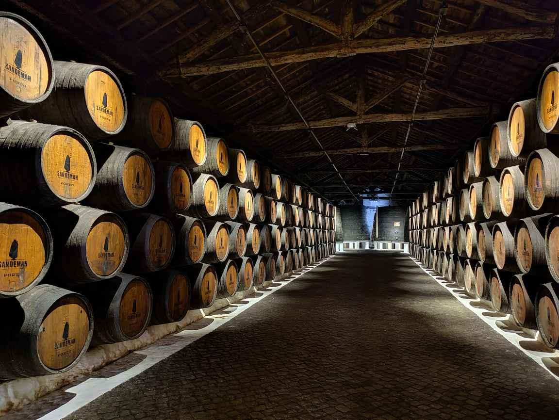 Sandemanin viinikellarit ovat Porton ehdottomasti mielenkiintoisimpia nähtävyyksiä.